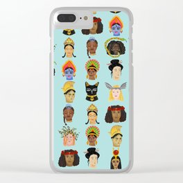 Goddesses Around the World Clear iPhone Case