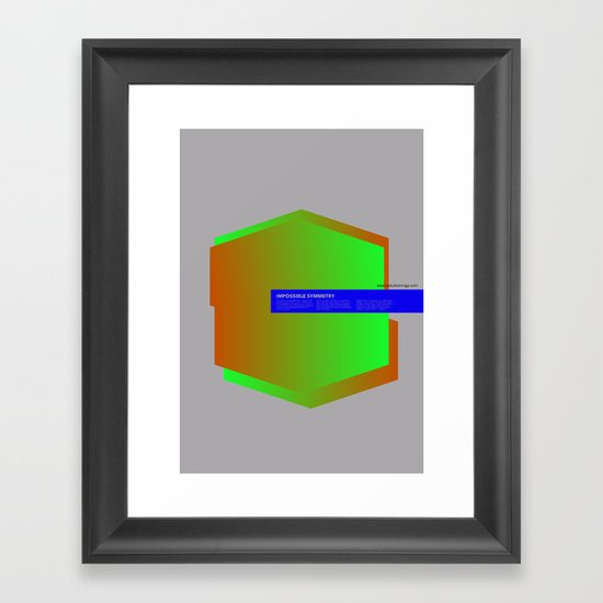 Impossible Symmetry - Ex Framed Art Print