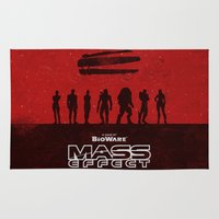 mass effect Area & Throw Rugs featuring Mass Effect 1 by Bill Pyle