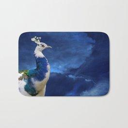 Peacock and Blue Sky Bath Mat