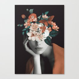WOMAN WITH FLOWERS 7 Canvas Print