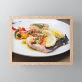 swordfish fillet Framed Mini Art Print