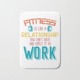 Bodybuilding Fitness Motivation Slogan Bath Mat