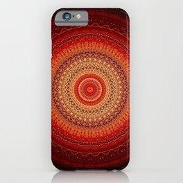 Red Golden Bohemian Mandala iPhone Case
