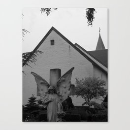 Peaceful Churchyard in Denmark II Canvas Print