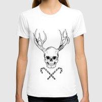 creepy T-shirts featuring Creepy Xmas by Evgenia Chuvardina