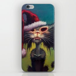 Zombie Cat Christmas iPhone Skin