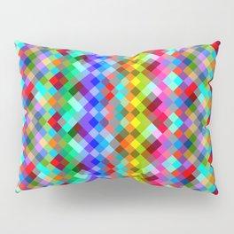 Multicolored pixels Pillow Sham