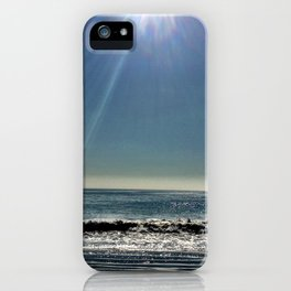 Sun over the waves. iPhone Case