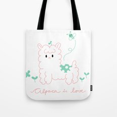Alpaca is love Tote Bag