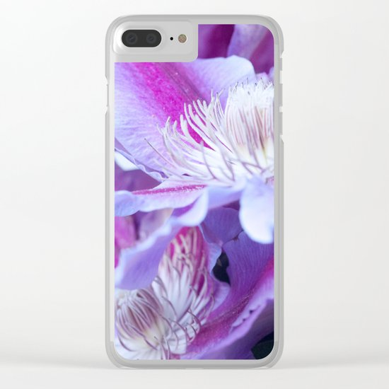 Clematis Flowers Close-Up #1 #decor #art #society6 Clear iPhone Case