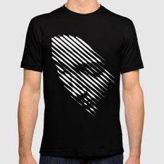 Face Lines Mens Fitted Tee Black LARGE