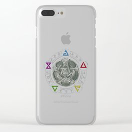 The Witcher Igni Symbol Clear iPhone Case