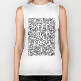 Keep Calm and Draw Biker Tank