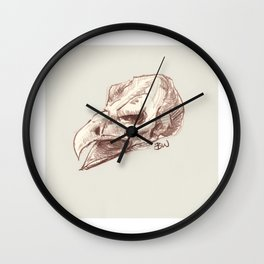 Eagle Skull Wall Clock