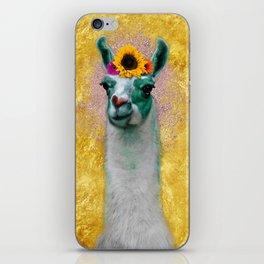 Flower Power Llama iPhone Skin
