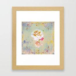 400 3 Vintage Roses Framed Art Print