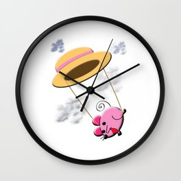 Piggy Swinging Wall Clock