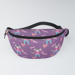 Cute Valentine's Day Raccoon Fanny Pack