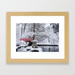 Duke Gardens Bridge Framed Art Print