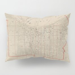 Vintage Map of Louisville KY (1880) Pillow Sham