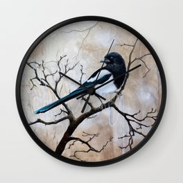 Promise - Magpie Wall Clock
