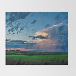 Montana Sunset Throw Blanket