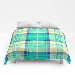 Turquoise Tartan Comforters