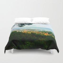 La Spezia, Italy City Panorama Duvet Cover