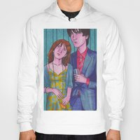 hermione Hoodies featuring Party Hard (Neville and Hermione) by Anna Gogoleva