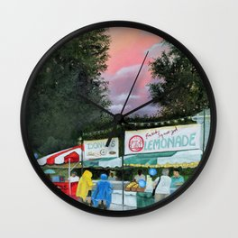 Summer Street Festival Wall Clock