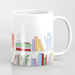 Cats and books. What else ? Coffee Mug