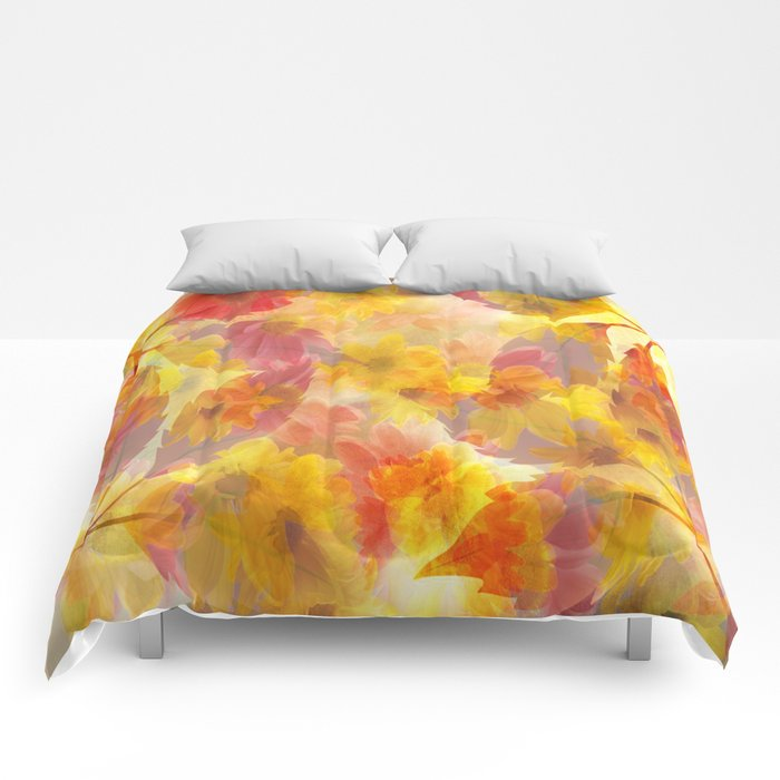 Changing Seasons Abstract Comforters