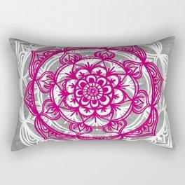 Mandala on Gray Jersey Rectangular Pillow