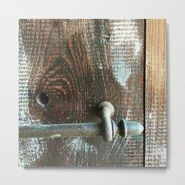 Wood and Handle Metal Print