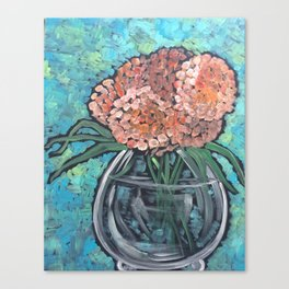 Orange Bloosoms Canvas Print