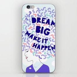 'Dream Big' Girl Power Portrait iPhone Skin