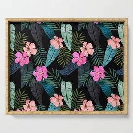 Island Goddess Tropical Black Serving Tray
