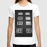 norway T-shirts featuring Facade in Trondheim, Norway by Archilse
