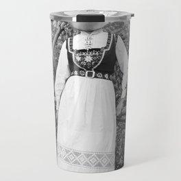 Miss Onion by the bushes. 1915. Travel Mug