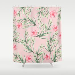 Delicate Hibiscus Pink Shower Curtain