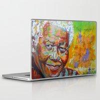 mandela Laptop & iPad Skins featuring nelson mandela by yossikotler