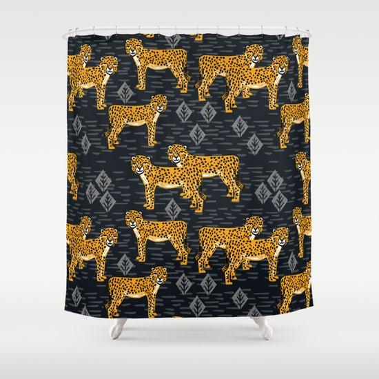 Safari Cheetah Shower Curtain