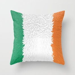 Extruded flag of Ireland Throw Pillow