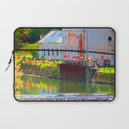 Pointillism: Snoqualmie Falls Laptop Sleeve