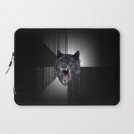 Insanity Wolf Meme Funny Memes Black Wolf                                            Laptop Sleeve