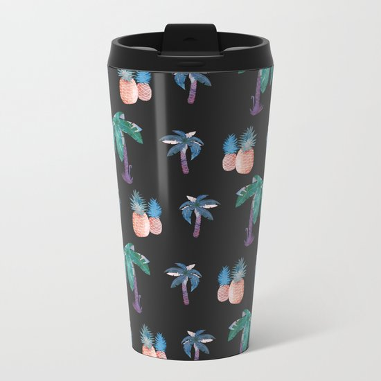 Tropical at Night Metal Travel Mug