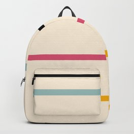 Abstract Minimal Retro Stripes Acro Backpack