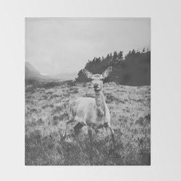 HELLO DEER / Scotland Throw Blanket