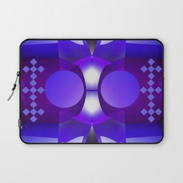 Geometric abstract in purples and grey Laptop Sleeve